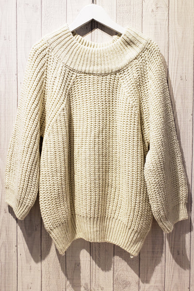 Knitted Off-shoulder Losse Fit Sweater