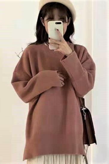 Basic Round neck Color Sweater