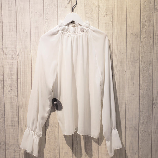 Mock Neck Gigot Sleeve Top