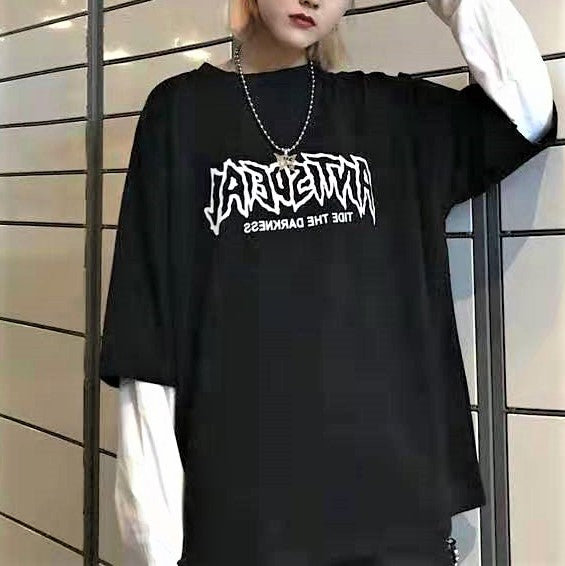 Fake Two Piece Long Sleeve Pullover