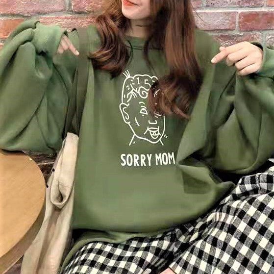 Cartoon Print Sweatshirt