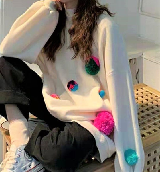 Puffer Ball Sweatshirt
