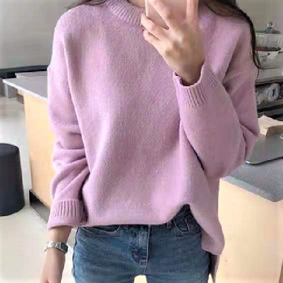 Round neck Basic Knit Top