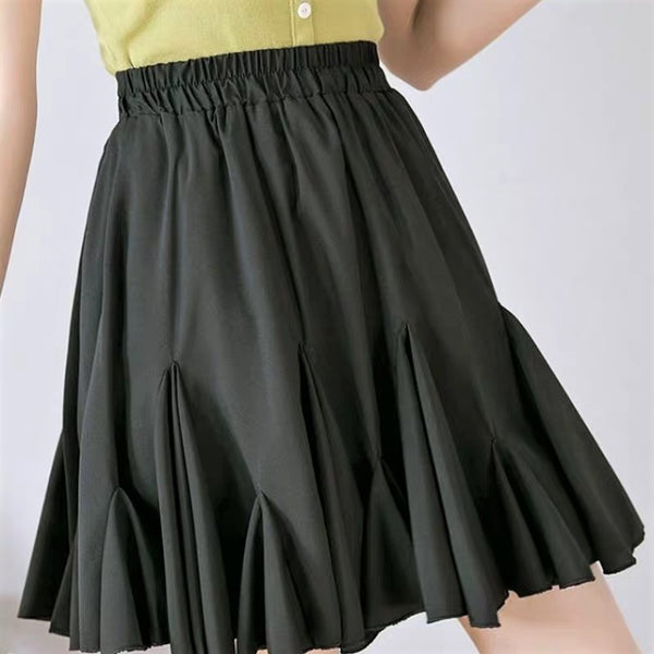 Single Tone Frilled Skirt