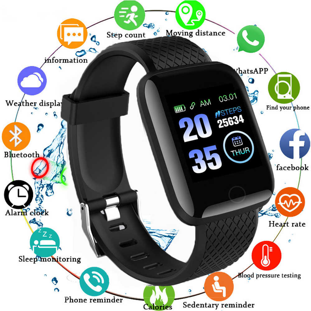 116 PLUS Smart Bracelet D13 Heart Rate Blood Pressure Smart Watch - Open Box