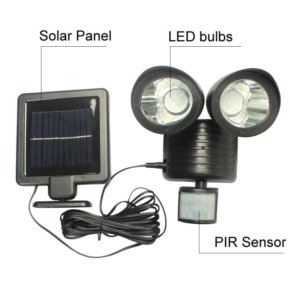 22 LED Solar Powered PIR Motion Sensor Security Light