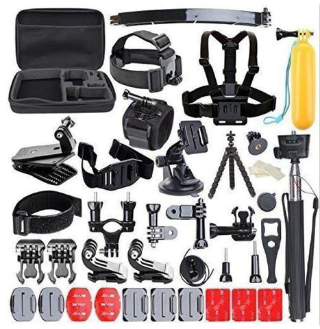 50 in 1 Sports Action Camera Accessories Kit for Gopro HERO 5 5s 4 3+  SJ4000 Video Camera with bag