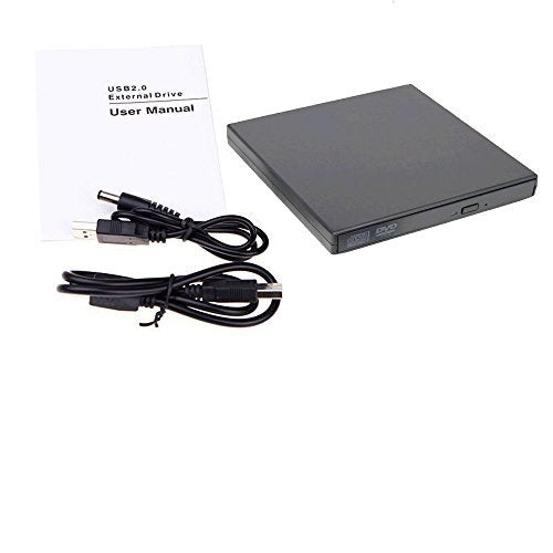 USB 2.0 External Combo DVD Reader CD Writer - Black