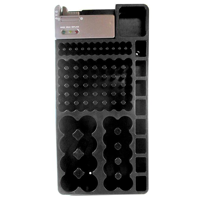 Battery Storage Organizer Holder with Tester - 110 Batteries Capacity