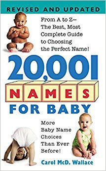 20,001 Names For Baby: Revised and Updated - USED