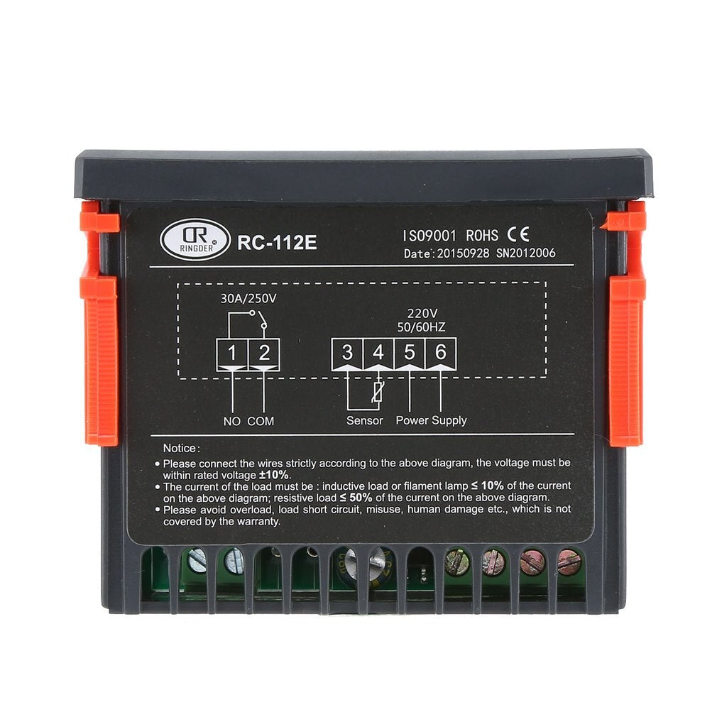 Ringder RC-112E Cool Heat ON/OFF Relay Switch Universal Digital Thermostat Temperature Controller