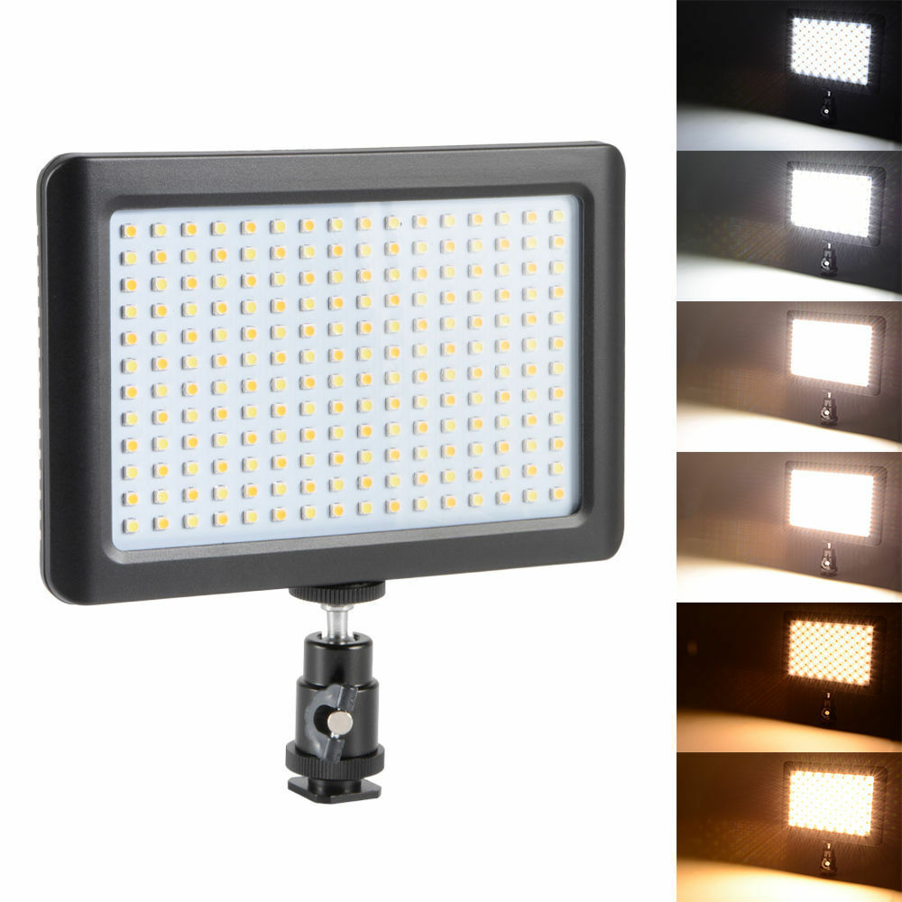 Techme PAD192 3200-6000k LED  Continous Light Panel for Photo & Video with Camera / Tripod Mount