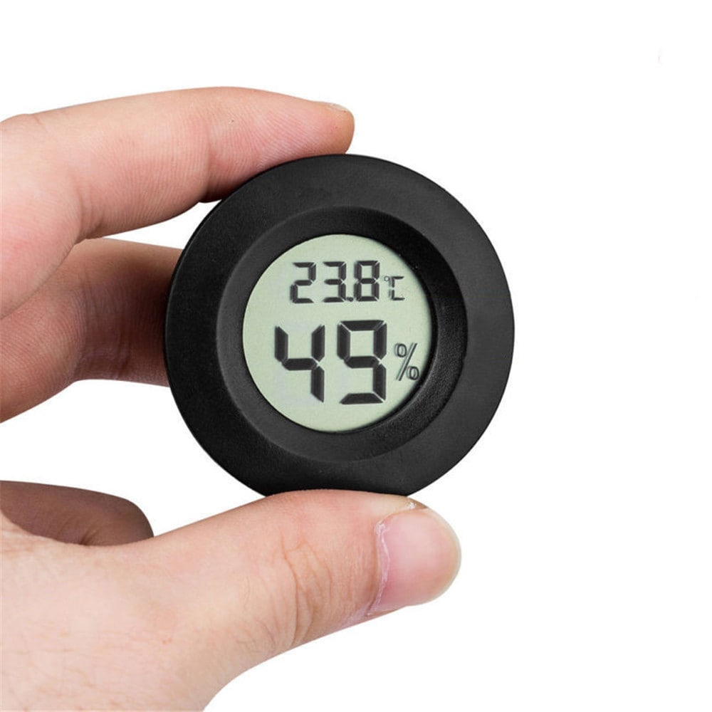 Mihuis SR Digital LCD Thermometer Hygrometer Electronic Temperature Meter - Black