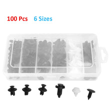 Load image into Gallery viewer, 100Pcs Assorted Car Body Plastic Push Retainer Pin Rivet Fasteners Kit