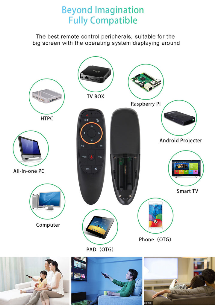 G10 Voice & Air Mouse 2.4GHz Remote Control for Android TV BOX / Smart TV / PC