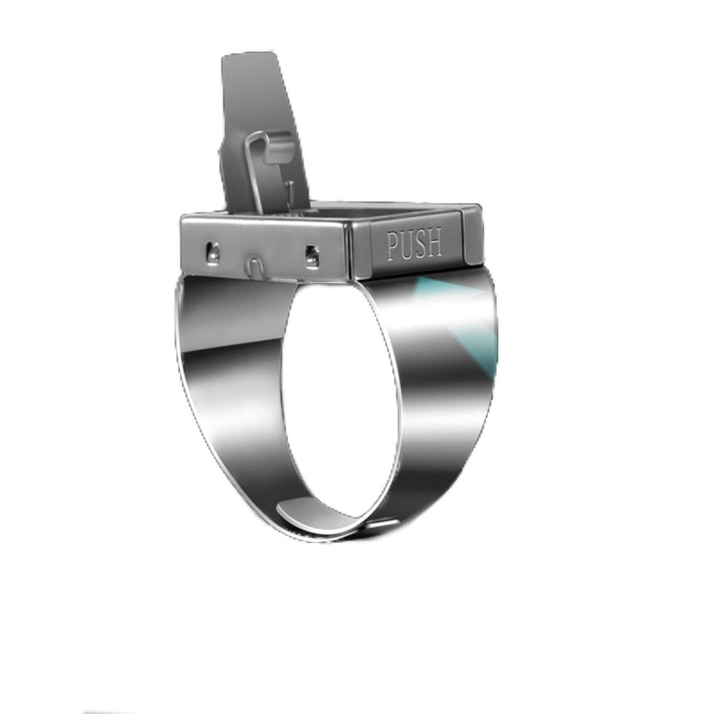 Self Defense Ring with Hidden Blade
