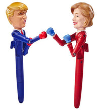 Load image into Gallery viewer, Hillary & Trump Talking Fighting Pen Set
