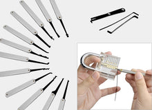 Load image into Gallery viewer, Mihuis Lock Pick Tool Set with Transparent Practice Padlock