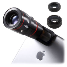 Load image into Gallery viewer, Universal 4-in-1 Smartphone Lens Kit - Black