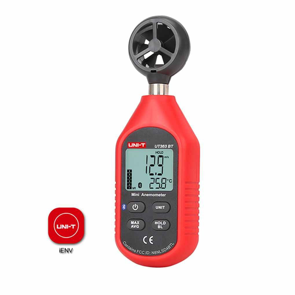 Uni-T UT363 BT Digital Anemometer Thermometer Wind-Speed Meter Handheld with LCD & Bluetooth