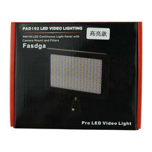 Load image into Gallery viewer, Techme PAD192 3200-6000k LED  Continous Light Panel for Photo & Video with Camera / Tripod Mount
