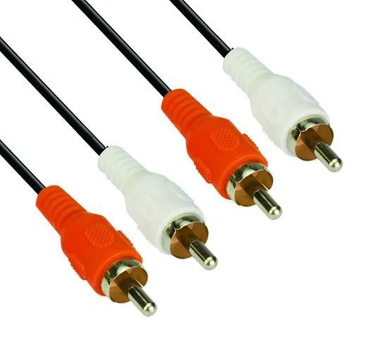 VCOM 2xRCA Male to 2xRCA Male Cable (CV022) - 1.8m