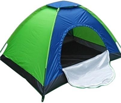 Green & Blue 3 Person Outdoor Travel Tent