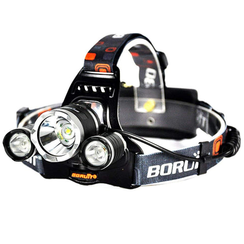 Boruit Rechargeable LED Headlamp with T6 5000 Lumens RJ-3000 Head Lamp