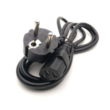 Load image into Gallery viewer, C13 IEC Female Kettle Plug to European 2 pin Round AC EU Plug Power Cable Lead Cord - 1M