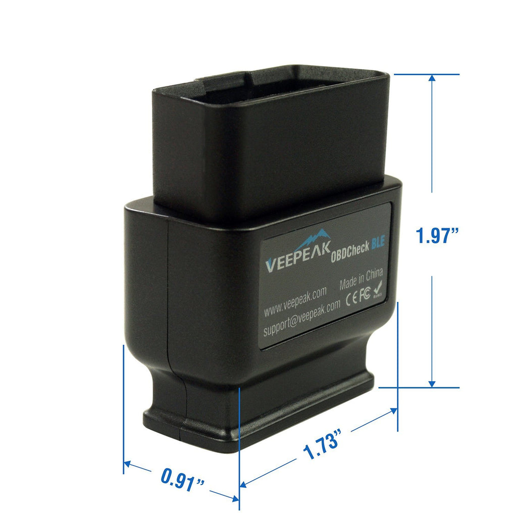 Veepeak OBDCheck BLE Bluetooth OBD2 Scanner for iOS & Android