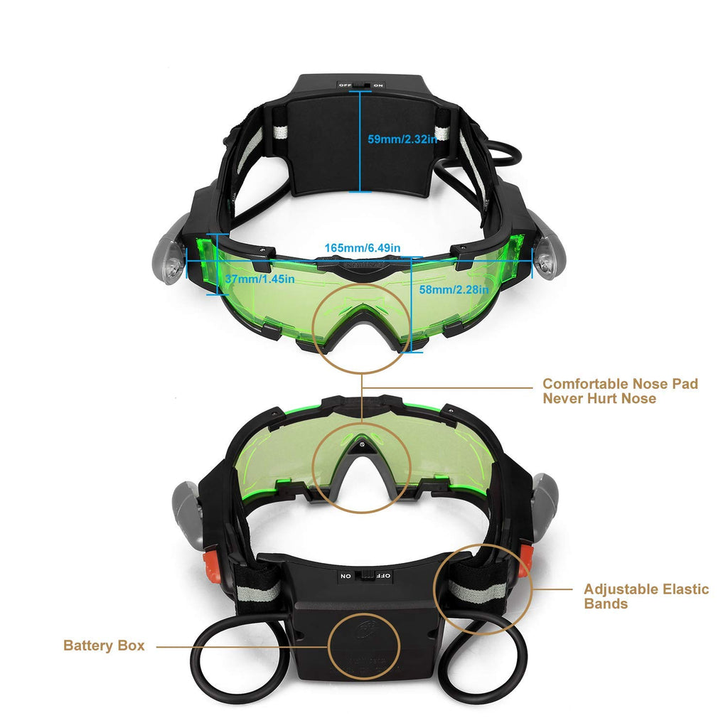 Jingyi Night Vision Goggles with Flip-out Lights
