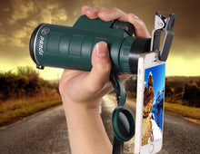 Load image into Gallery viewer, PANDA 35 x 50 Camera Lens Zoom Monocular + Clip for Smartphone Black