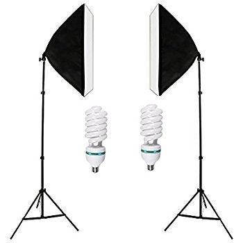 135W Bulb 5070 Single Head Soft Light Box Two Lights Set