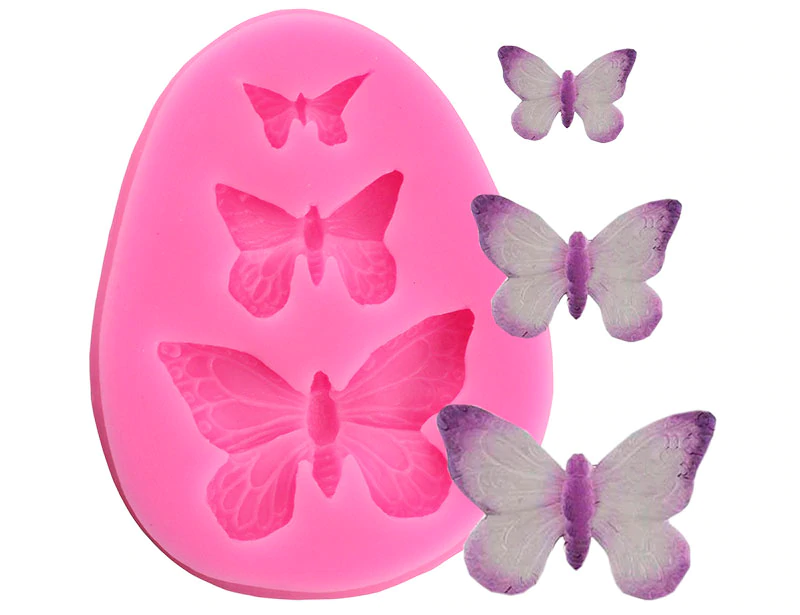 3D Butterfly Silicone Mold Polymer Clay Candy Molds Cupcake Topper