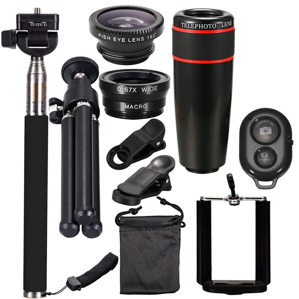 Techme Ultimate Photographic Lens Kit for Smartphone - Universal