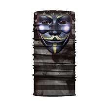 Load image into Gallery viewer, V for Vendetta Gold Motorcycle Neck Warmer Balaclava Scarf