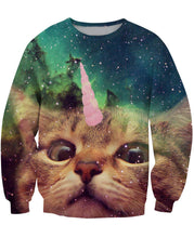 Load image into Gallery viewer, Unicorn Cat Top Sweater