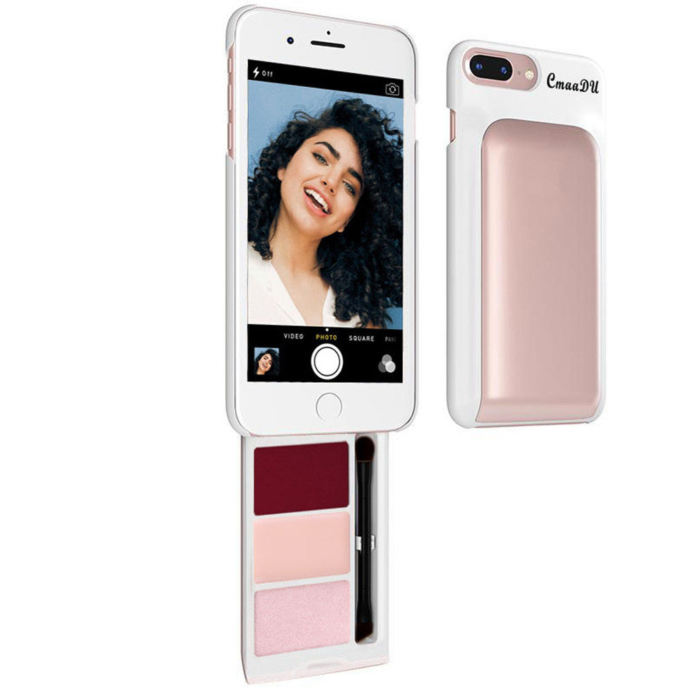 Cosmetic Cellphone Case, With Hidden Makeup and Brush For Iphone 6/6s/7/8