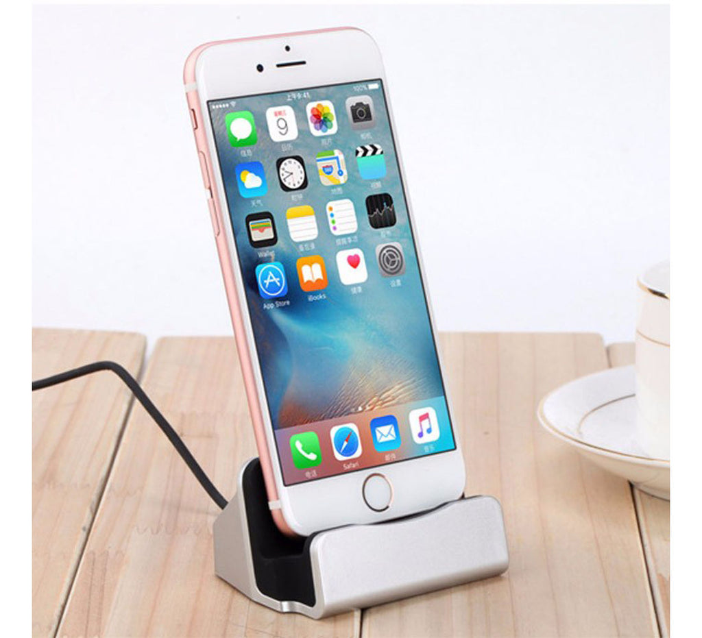 Techme Rose Gold Charge & Sync Dock Station with Lightning Connector for iPhone