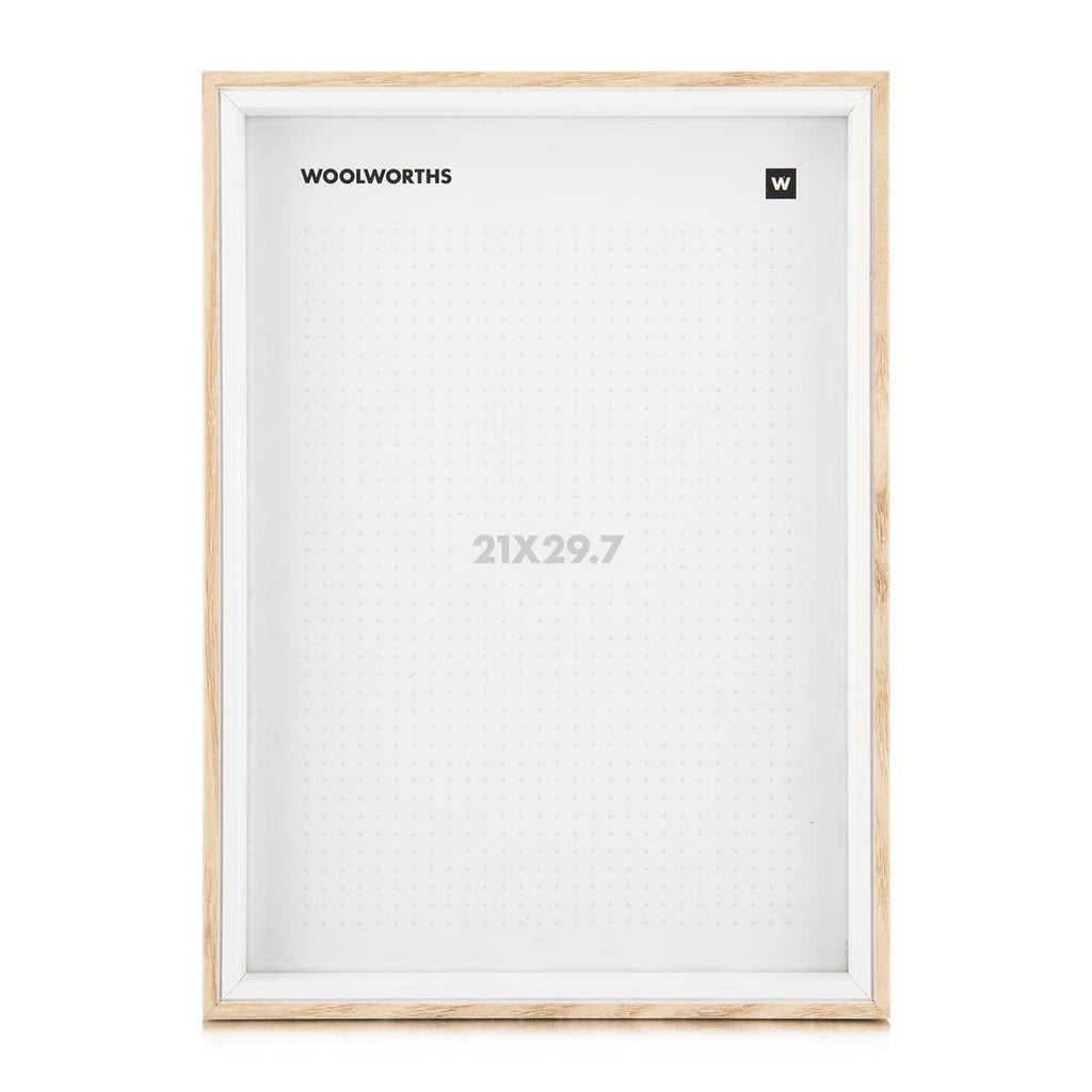 Woolworths Mason Wood Natural 21x29.7 Picture Frame