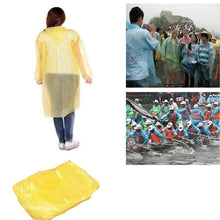 Load image into Gallery viewer, Yellow Emergency Rain Coat Adult - Pack of 10