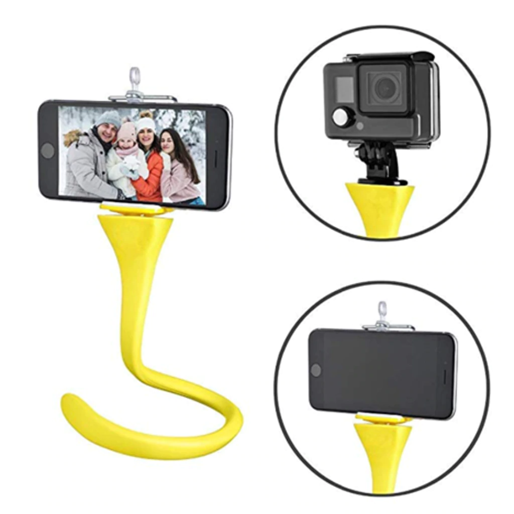 Flexible Selfie Stick Monopod with Remote Control for Camera/Phone & Go Pro