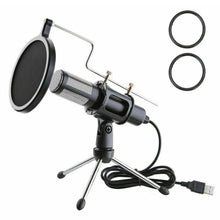 Load image into Gallery viewer, Techme Professional USB Microphone with Stand & Condenser