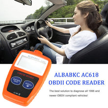 Load image into Gallery viewer, ALBABKC AC618 OBD Car Diagnostic Scan Tool Code Reader Scanner
