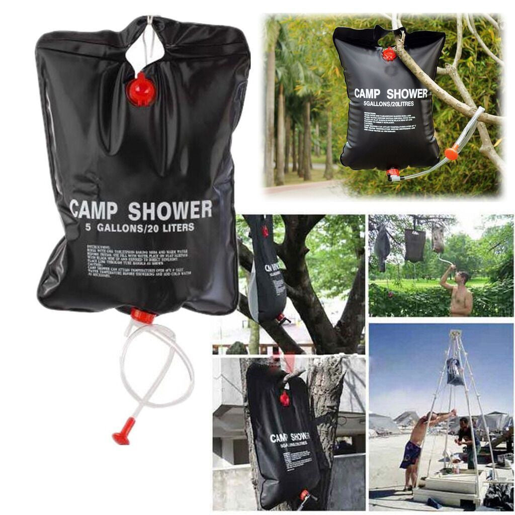 20L Solar Heated Portable Camping Shower Bag - Awesome Imports - 1