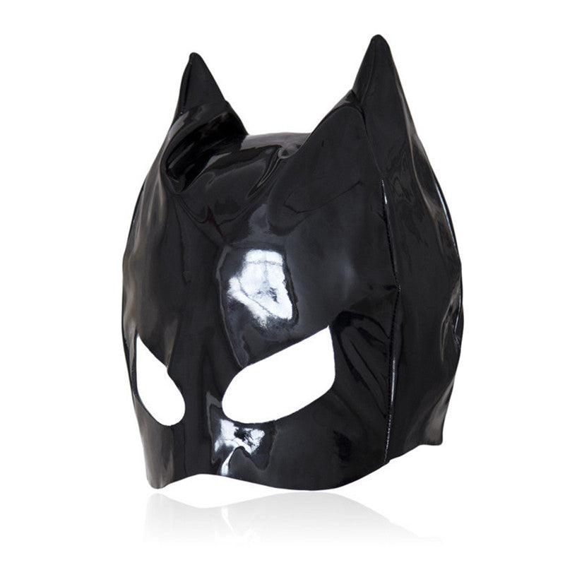 Cat Faux Leather Mask
