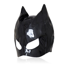 Load image into Gallery viewer, Cat Faux Leather Mask