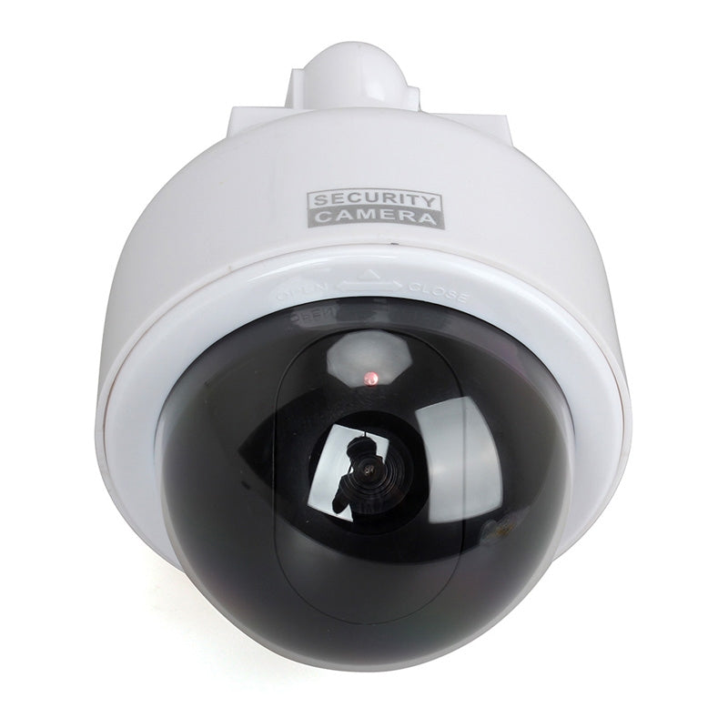 Techme Round Dome Solar Powered Dummy Fake IP Camera