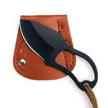 Load image into Gallery viewer, Small Pocket Knife with Leather Cover