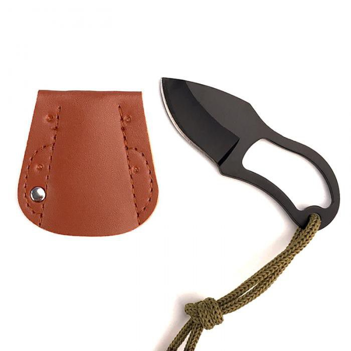 Small Pocket Knife with Leather Cover